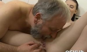 Age-old bloke tempts a juvenile babe